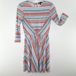 New BEBOP Striped 3/4 Sleeves Dress Junior XS